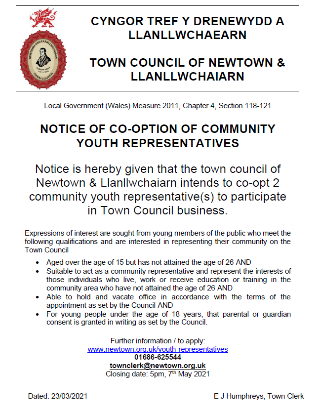 Notice of Co-option